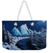 Frosty Night In The Mountains Weekender Tote Bag