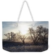 Frosty Rise Weekender Tote Bag