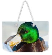 Mallard On Ice Weekender Tote Bag