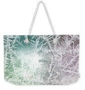 Frosty Windowpane Weekender Tote Bag
