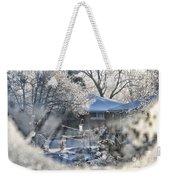 Frosty Winter Window Weekender Tote Bag