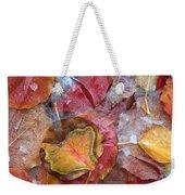 Frozen Autumn Aspen Leaves Weekender Tote Bag