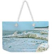 Frozen Beach Weekender Tote Bag