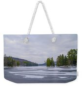 Frozen Bear Creek Lake Weekender Tote Bag