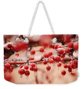 Frozen Berries Weekender Tote Bag