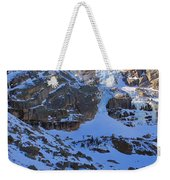 Frozen Black Lake Weekender Tote Bag