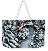 Frozen Brook - Winter - Bridge Weekender Tote Bag