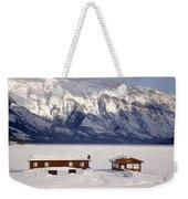 Lake Minnewanka, Alberta - Banff - Frozen Docks Weekender Tote Bag