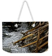 Frozen Edges And Ends Weekender Tote Bag