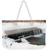 Frozen Falls At Pine Creek Weekender Tote Bag