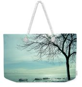 Frozen February Morning Weekender Tote Bag