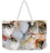 Frozen Fish On Ice Weekender Tote Bag