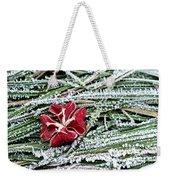 Frozen Flower Weekender Tote Bag