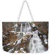 Frozen Falls From The Bridge Weekender Tote Bag