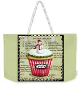 Frozen Frosty Cupcake Weekender Tote Bag