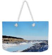 Frozen Lake Michigan Weekender Tote Bag