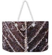 Frozen Leaf Weekender Tote Bag by Anne Gilbert
