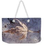Frozen Leaf Weekender Tote Bag
