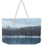 Frozen Mountain Lake Weekender Tote Bag