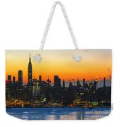Frozen-new York At Dawn  Weekender Tote Bag