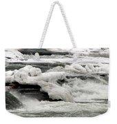Frozen Niagara River Rapids Above Niagara Falls Weekender Tote Bag