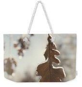 Frozen Oak Leaf Abstract Nature Detail Weekender Tote Bag
