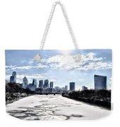 Frozen Philadelphia Cityscape Weekender Tote Bag