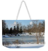 Frozen Pond Weekender Tote Bag