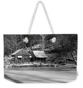 Frozen Pond In Black And White Weekender Tote Bag