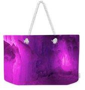 Frozen Purple Rain Weekender Tote Bag