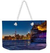 Frozen Skyline Weekender Tote Bag