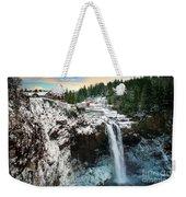 Frozen Snoqualmie Falls Weekender Tote Bag