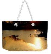 Frozen Sunset Weekender Tote Bag