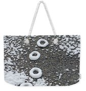 Frozen Tracks Weekender Tote Bag