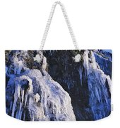 Frozen Waterfall On Oregon Central Coast Weekender Tote Bag