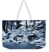 Frozen Waterfall Weekender Tote Bag
