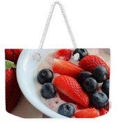 Fruit And Yogurt Snack 2 Weekender Tote Bag by Barbara Griffin