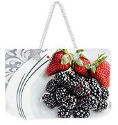 Fruit I - Strawberries - Blackberries Weekender Tote Bag
