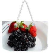 Fruit IIi - Strawberries - Blackberries Weekender Tote Bag