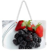 Fruit Iv - Strawberries - Blackberries Weekender Tote Bag