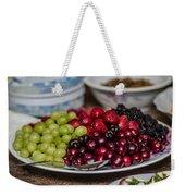 Fruit Plate Weekender Tote Bag