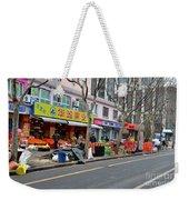 Fruit Shop And Street Scene Shanghai China Weekender Tote Bag