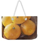 Fruit Still Life Oranges And Antique Silver Weekender Tote Bag