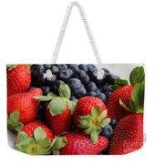 Fruit - Strawberries - Blueberries Weekender Tote Bag