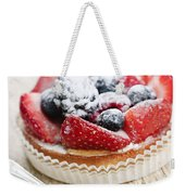 Fruit Tart With Spoon Weekender Tote Bag