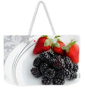 Fruit V - Strawberries - Blackberries Weekender Tote Bag