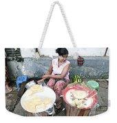 Fruit Vendor On Street Yangon Myanmar Weekender Tote Bag