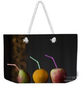 Fruit With Straws Weekender Tote Bag
