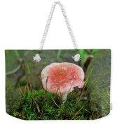 Fruiting Moss And Pink Mushroom Weekender Tote Bag