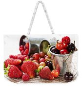 Fruits And Berries Weekender Tote Bag by Elena Elisseeva